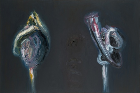 Divas figūras • Two Figures, 2013, Oil on canvas, 120 x 180cm