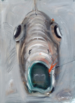Zivs portrets • Portrait of a Fish, 2008, Oil on canvas, 98 x 72 cm