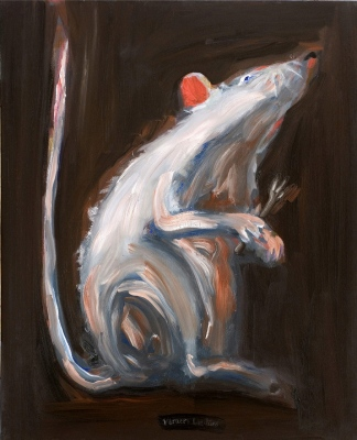 Žurka • The Rat, 2008, Oil on canvas, 100 x 80 cm