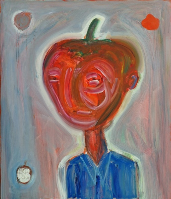 Cilvēks Pipars • The Human Pepper, 2008, Oil on canvas, 140 x 120 cm