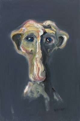 Zīloņcilvēks • The Elephant Man, 2009, Oil on canvas, 120 x 80 cm