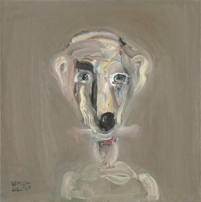 Cilvēksuns • Person Dog, 2009, Oil on canvas, 100 x 100 cm